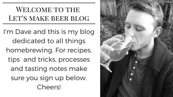 Welcome to the Let's make beer blog